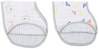 Aden and Anais Leader of The Pack Classic Muslin Burpy Bib, Multicolour, 2 Count