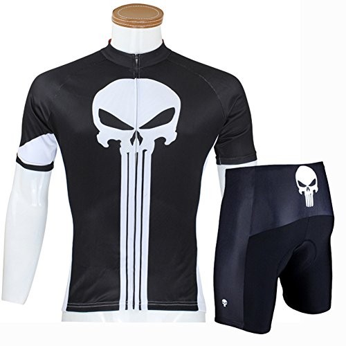 Hillento Men Cycling Quick-Dry Biking Short Sleeve Jersey - The Punisher