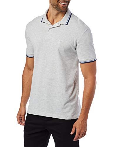 Camisa Polo Friso, Polo Wear, Masculino, Mescla Claro/Marinho, P
