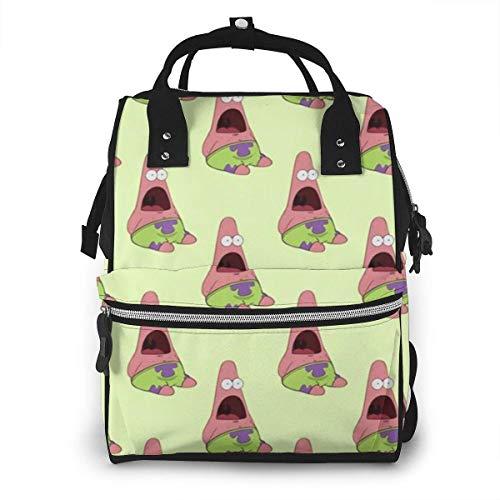 JUKIL Sac à dos à couches Piestar Hug Spongeboe Mummy Backpack Zipper Travel Daypack Men Women Teens Gift