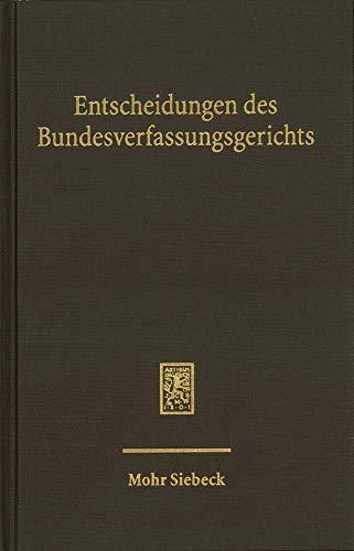 Entscheidungen des Bundesverfassungsgerichts (BVerfGE): Band 152
