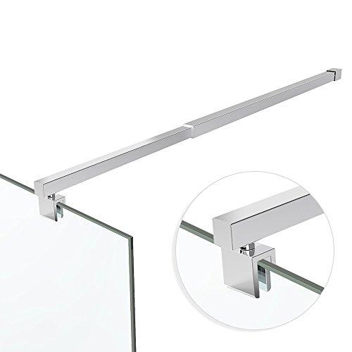 Haltestange Stabilisator Edelstahl Duschabtrennung Duschkabine Wandmontage HS12 800-1200 mm für 6-10 mm Glasstärke