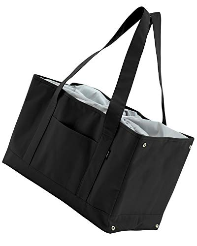 Libexy レジカゴ 保冷 エコバッグ お買い物バッグ れじかご 買い物かご エコバック 大容量 ショッピングバッグ (ブラック)
