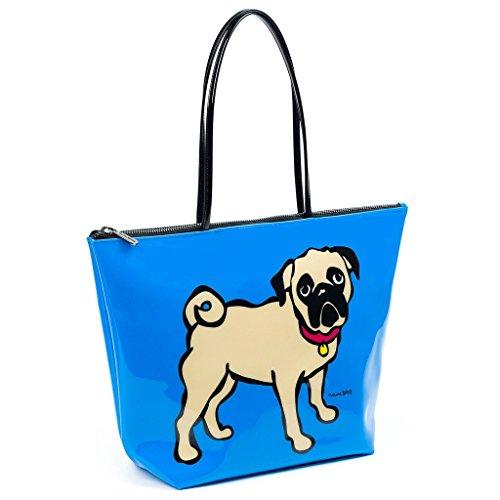 Marc Tetro - Bolso de tela de pvc para mujer azul azul