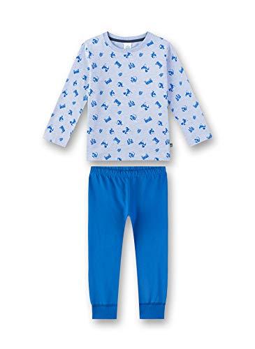 Sanetta Jungen Pyjama Zweiteiliger Schlafanzug, Blau (Oxford Mel 50252), (Herstellergröße: 104)