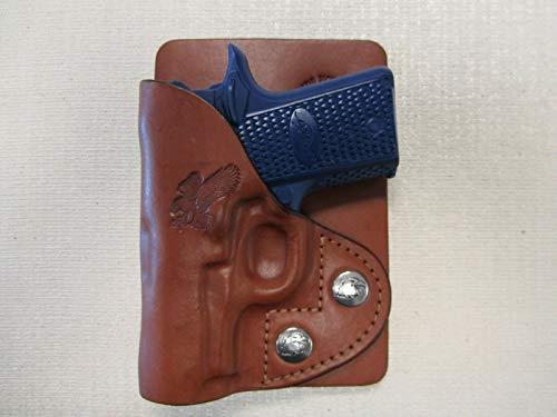 Kimber Micro 380 Brown Leather Wallet & Pocket Holster Right...