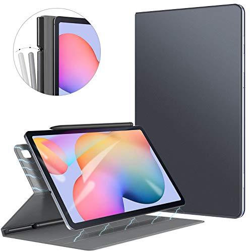 ZtotopCase Funda para Samsung Galaxy Tab S6 Lite 2020, Parte Posterior Magnética Inteligente Ultradelgada con Soporte Incorporado de Pencil, para Samsung Galaxy Tab S6 Lite 10.4 Pulgadas, Gris