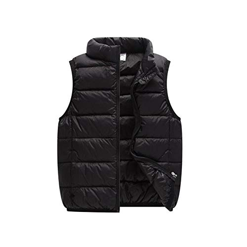 warmstraw Baby Kids Sleeveless Down Vests Outfit Warmth Puffer Zip up Jacket with Pockets Size 80cm Black