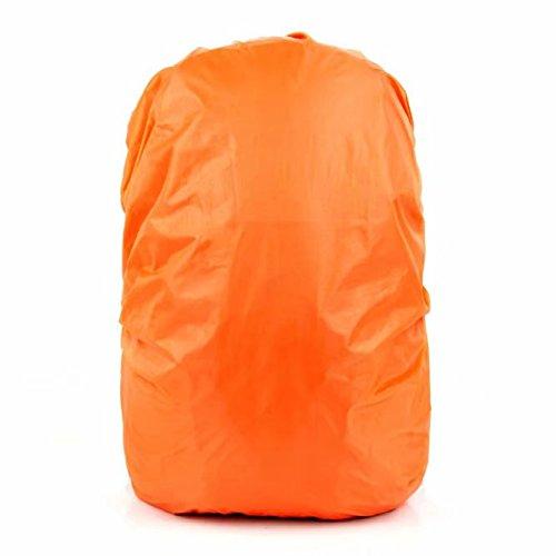 Waymeduo Couverture Housse de Sac à Dos 30L-40L Imperméable Anti Poussière Camping Voyage Randonnée - Orange
