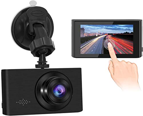 GEREE Dash Cam, Car DVR Dashboard Camera Recorder 1080p FHD with Night Vision, 3 inch IPS Touch Screen, 170 Super Wide Angle, G Sensor, Parking Monitor, Motion Detection, WDR