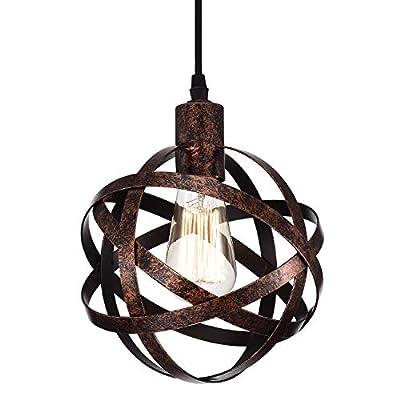 Industrial Pendant Light Fixtures Orb Chandelier 1 Light Bronze Chandeliers for Dining Room