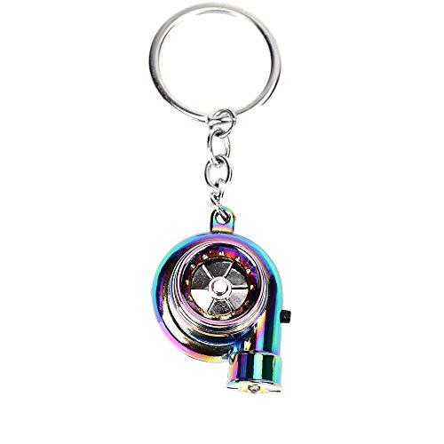 Auto Metall Schlüsselanhänger Sound Turbo Key Hülsenlager Spinning Modell Turbine Turbolader Ring Key Turbo Shaped Anhänger Schlüssel
