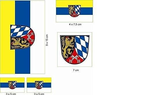 U24 Aufkleberbogen Oberpfalz Aufkleber Set Flagge Fahne
