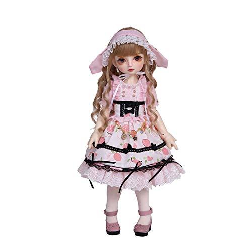 Kepae 39cm Mädchenpuppe 1/4 BJD Dolls Puppe Ball Jointed Doll Full Set, mit Lange Perücke, Vintage Dienstmädchen Puppenkleidung, Mary Jane Schuhe, Puppen mit Zubehör