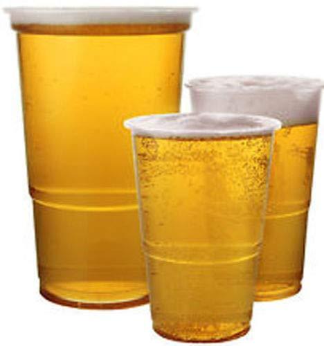 100er Pack Transparentes Plastik Bier-becher - Kingfisher Gastronomie