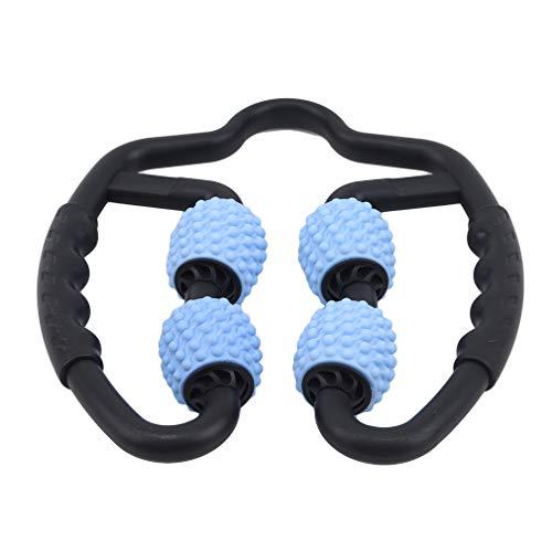 unknow Meitanyuan Muskelrollenclip 360 ° Bein Muskelrelaxant Massagegerät Beine für Oberschenkel Arme,Blau