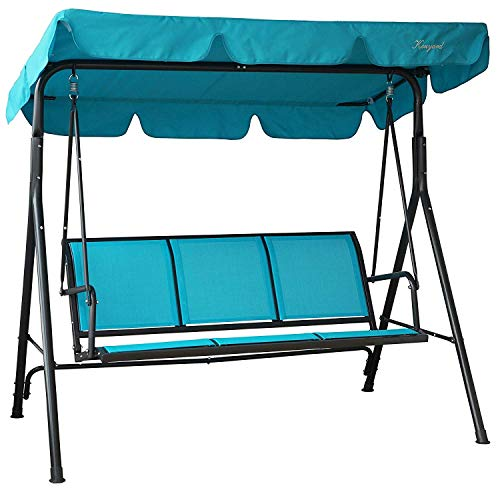 Kozyard Belle Strong Outdoor Patio Swing Bed Coated Steel