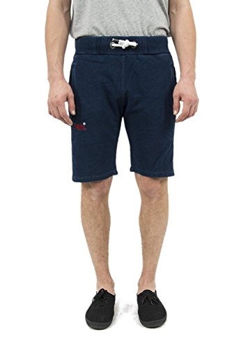Superdry Shorts Heren Orange Label Lite Slim Short Dark Marine Indigo
