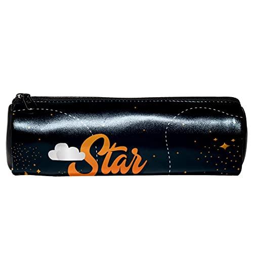 Stardust, astuccio in pelle per penne, matite, portamonete, cosmetici, per studenti, cancelleria, scuola, lavoro, ufficio