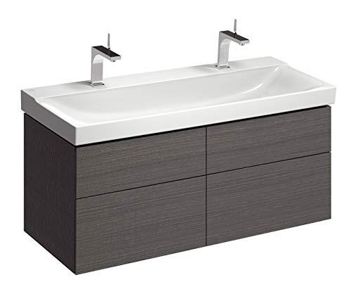 Keramag XENO² Waschtischunterschrank 1174 x 530 x 462 mm Korpus/Front: Holzstruktur Scultura Grau
