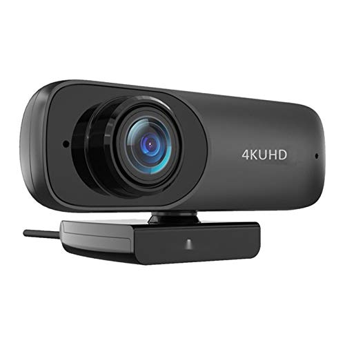 Webcam HD Streaming Conference Camera Full HD Webcam, 2160P Computer Camera USB 4K HD Camera Fixed Focus Drive-Free H.264 Compression for Desktop/Laptop
