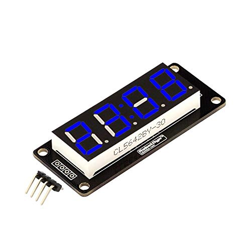 Capacitors 4 Digit LED Display Tube 7 Segments TM1637 50x19mm Blue Clock Display Colon for A-r-d-u-i-n-o - products that work with official for A-r-d-u-i-n-o Boards 3pcs