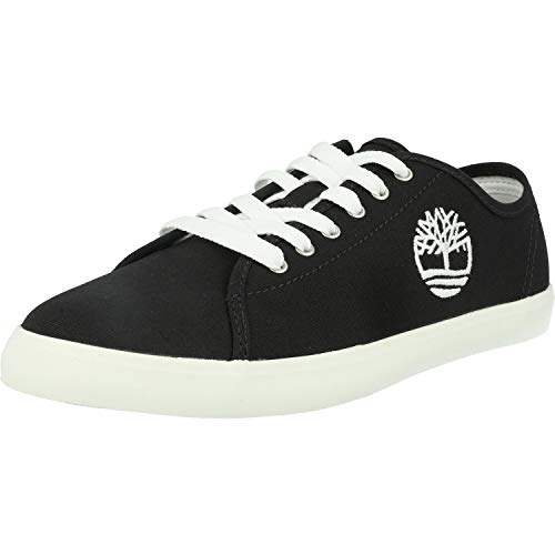 Timberland Unisex-Kinder Newport Bay-Canvas Sneakers, Schwarz (Jet Black), 38 EU