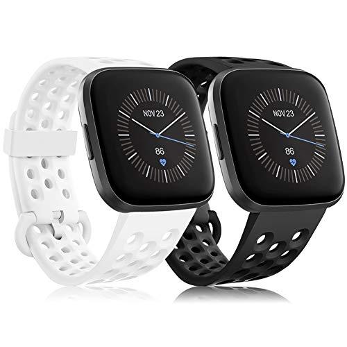 RIOROO Compatible para Fitbit Versa 2 Correa/Versa Correa/Versa Lite Correa, Blanco &...