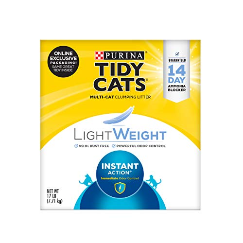 Price comparison product image Purina Tidy Cats Light Weight,  Low Dust,  Clumping Cat Litter,  LightWeight Instant Action Multi Cat Litter - 17 lb. Box