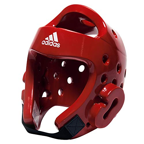 adidas Deluxe Head Gear (White, Medium)