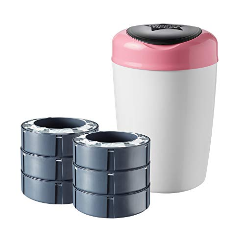 Sangenic - 87008101 - Poubelle à Couches Simplee - Rose + Tommee Tippee 43335672 Recharges pour Poubelle