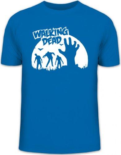 Shirtstreet24, Zombie Walking Dead, Halloween Grusel Herren T-Shirt Fun Shirt Funshirt, Größe: S,royal blau