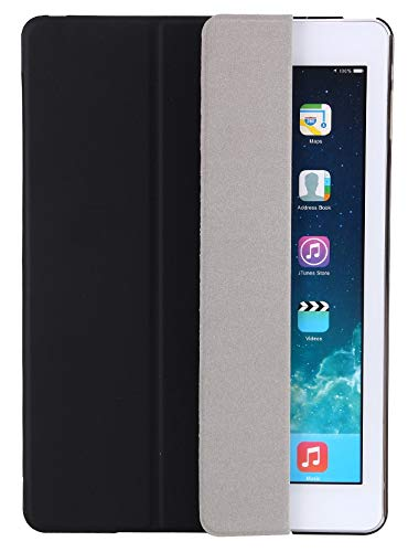 QGM ipad Tablet Case compatible with 9.7 inch iPad 6th/5th Generation Black Colour Trifold Design Auto Wake/Sleep
