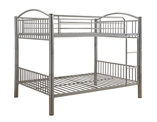 ACME Cayelynn Silver Full over Full Bunk Bed