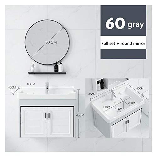 ZHANG HUA-tafellamp Z-H badkamermeubel, compleet, aluminium, combinatie van moderne, minimalistische badkamer, wastafel