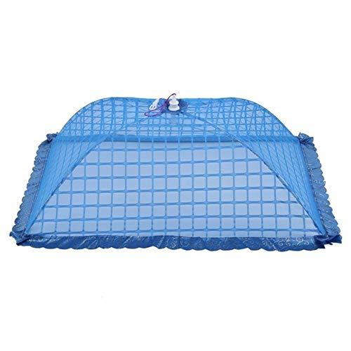 Piner set van 1 vierkante mesh scherm paraplu voedsel deksel net tenten herbruikbaar en opvouwbaar 72x51cm voor picknick BBQ - houd vliegen vliegen bugs, blauw