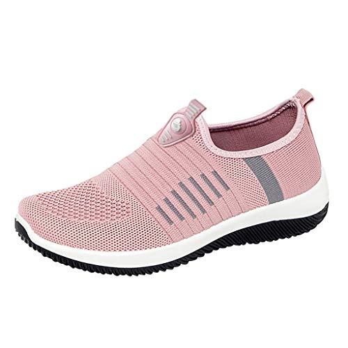 Kaister Damen Turnschuhe gemütlich Casual Solid Sport atmungsaktiv leichte Slip On Schuhe Sommer Schuhe Mesh Faule Schuhe