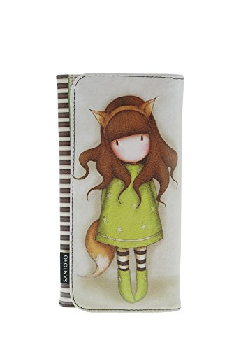 Gorjuss The Fox Largo Tipo Cartera Ranuras para Tarjetas, 19 x 10,5 cms Santoro