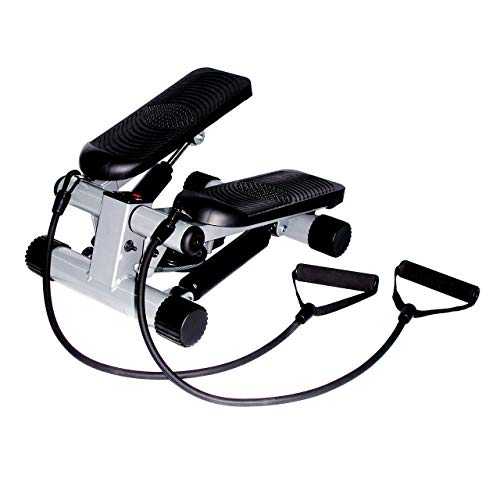 Sunny Health & Fitness Mini Stepper with Resistance Bands (Renewed)