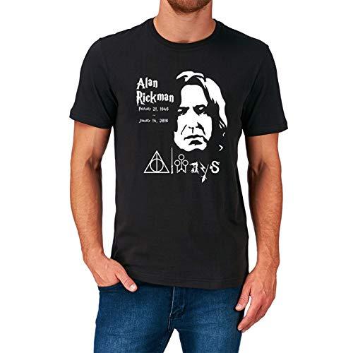 Alan Rickman T Shirt Film Movie Actor Tribute S-5XL Black M