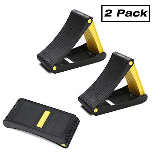 Homeon Wheels Folding Wheel Chocks Tire Chocks 2 Pack Car Stopper Anti-Slip Block Wheel Block Tire Stopper Support Pad, Helps Keep Your Cars in Place. for Use with Tires up to 20' in Diameter