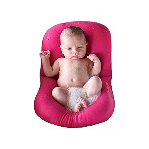 Baby Bad Kissen Pad, 4EVERHOPE Soft Badewannensitz für Neugeborene 0-6 Monate (Rosa)