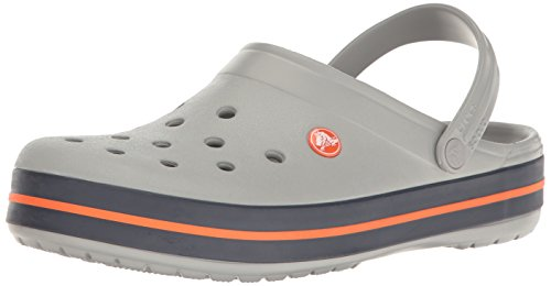 Crocs Crocband Clogs, Ciabatte Unisex – Adulto, Grigio (Light Grey/Navy), 43/44 EU