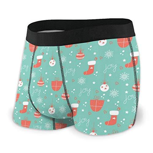 RROOT Heren Ultra Zacht Ondergoed Trunk Kerst Sneeuw Patroon Boxer Briefs