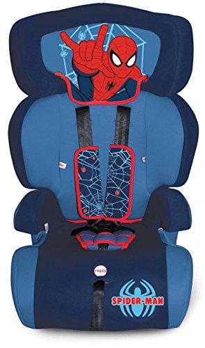 Seggiolino auto Spiderman Gruppo 1/2/3 per Bambini dai 9 ai 36 kg - Omologato ECE R44/04