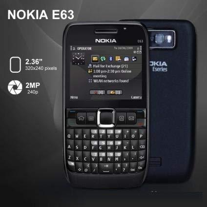 E63 by Original HMD-N o k i a QWERTY keypad Symbian Smartphone - Black