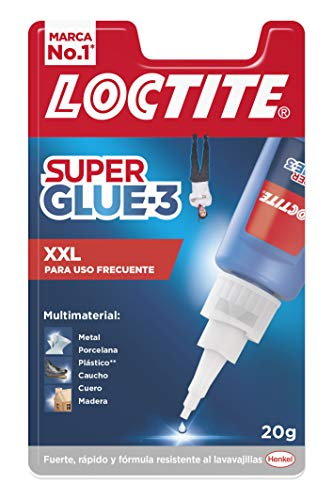 Loctite Super Glue-3 XXL, pegamento universal triple resistencia, adhesivo para uso intensivo, pegamento instantáneo, transparente y extrafuerte, 1x20 g
