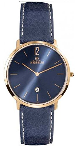Orologio da uomo Michel Herbelin - 19515/PR15BL - CITY - Data - Cinturino...