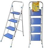 Escalera Plegable genérica y asequible para FOU Step R Ti Slip Tread D S Resistente, Cuatro Niveles Plegables, Cuatro Niveles Plegables, no se doblan