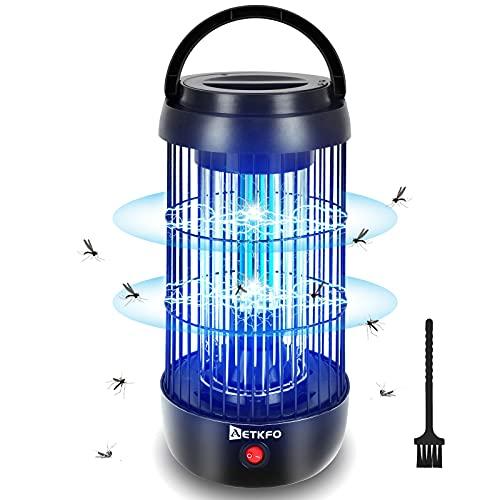 AETKFO Lampe Anti Moustique Electrique, 360° UV Tue Mouche Electrique, Répulsifs à Moustiques Non Toxique, Appareil Anti Moustique Sûr et Efficace pour Intérieur, Extérieur, Bureau, Jardin, Terrasse